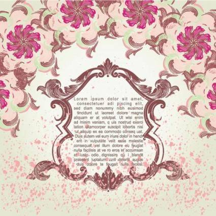 free vector Pink pattern background 05 vector