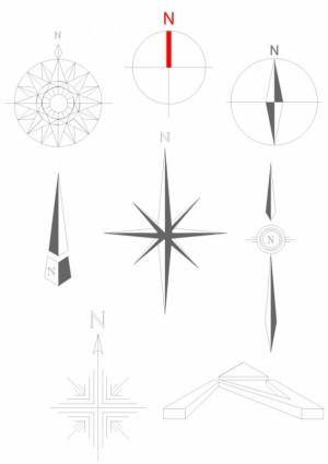 free vector Simple compass vector