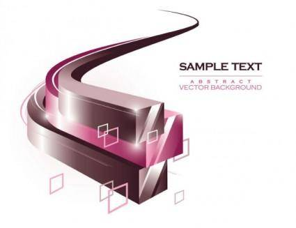 Dynamic threedimensional box background flow line 01 vector