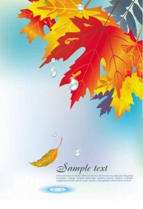 free vector Beautiful maple leaf background 03 vector