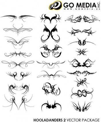 free vector Go media produced vector cool wings