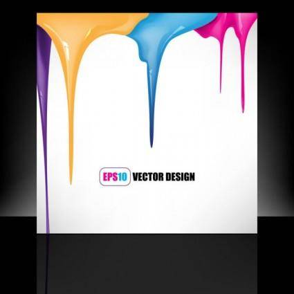 Paint drip marks background vector