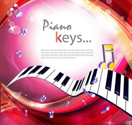 free vector Gorgeous piano key background 02 vector