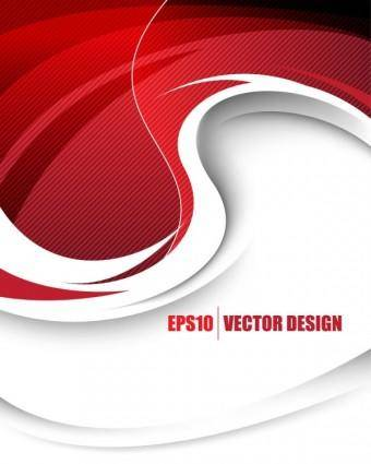 Behind the red background vector