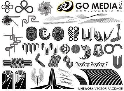 free vector Go media produced vector a combination of lines