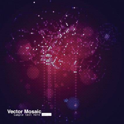 Dynamic mosaic star background 05 vector