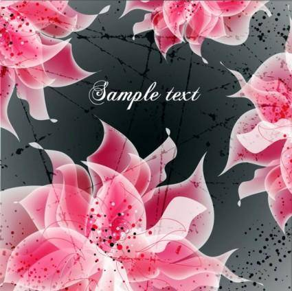 free vector Vector background floral fantasy 04