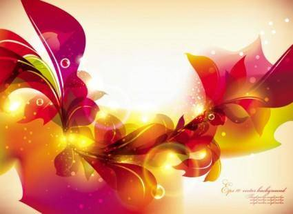 free vector Glow bright floral pattern background 03 vector