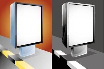 free vector Advertising light box vector