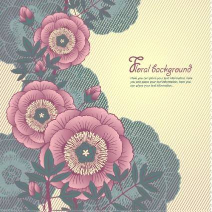 Elegant floral background 01 vector