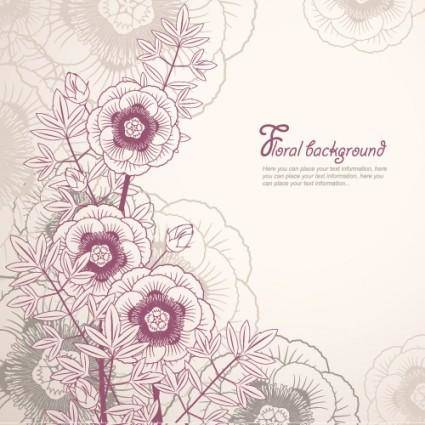 free vector Elegant floral background 02 vector