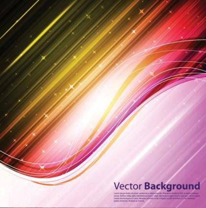 Dynamic brilliant color background 04 vector