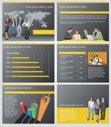 Business and financial background ppt 01 vector