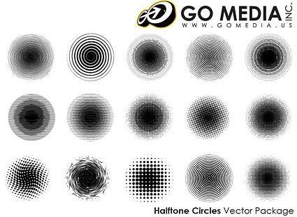 free vector Go media produced vector textured print outlets