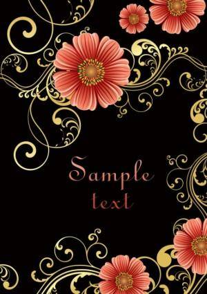 free vector Fashion floral background 02 vector