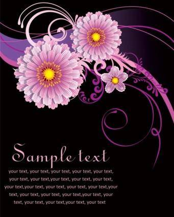 free vector Fashion floral background 04 vector