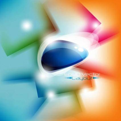 Dynamic halo background 01 vector