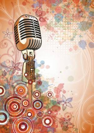free vector Microphone bright background 04 vector