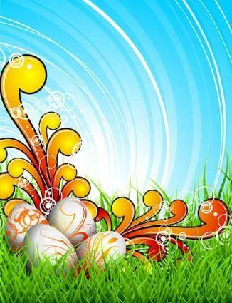 Colorful easter background 03 vector