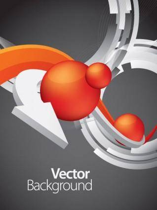 Vector dynamic background 4 arrow