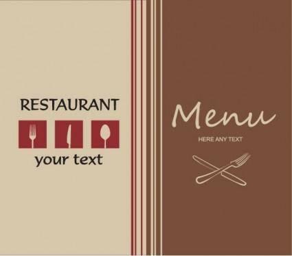 free vector Western menu background 01 vector