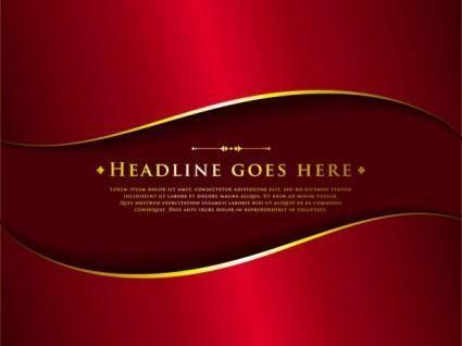 free vector Classic luxury red background 01 vector