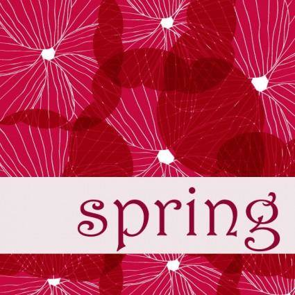 free vector Spring vector background 1