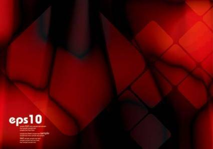 free vector Gorgeous dynamic red background box 05 vector