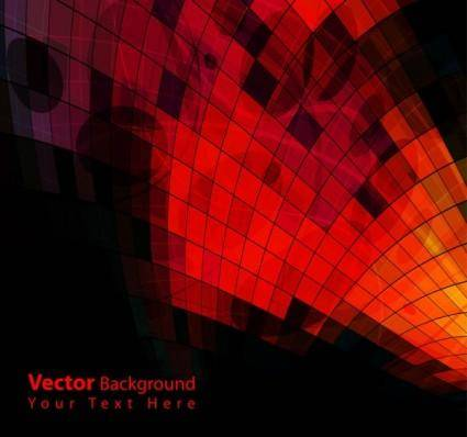 Gorgeous dynamic red background box 01 vector