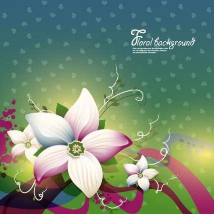 Exquisite floral design background 01 vector