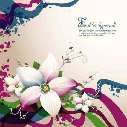 Exquisite floral design background 03 vector