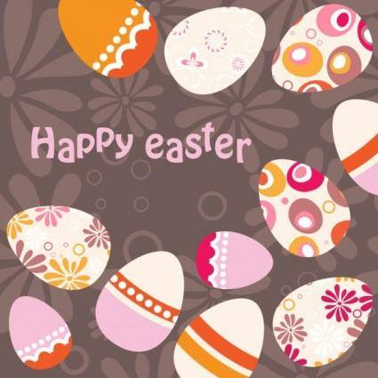 Easter egg background illustrator 01 vector