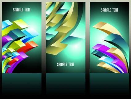 free vector Beautiful threedimensional box background 02 vector