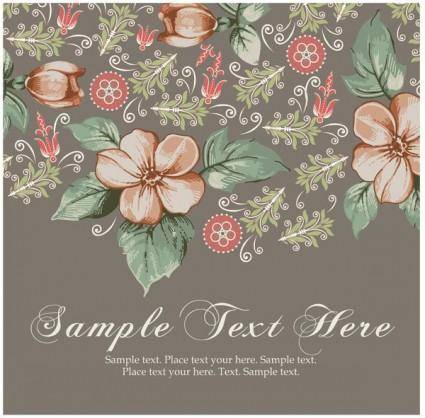 Beautiful pattern background 05 vector 17546