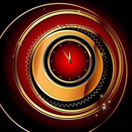 Exquisite watches creative background 01 vector