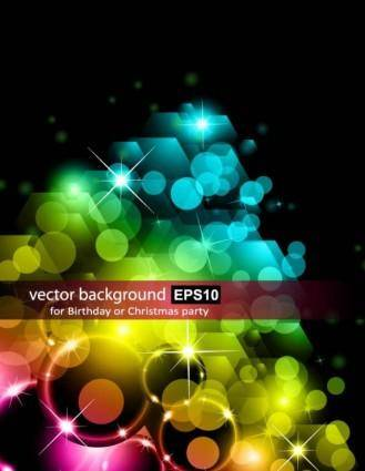 free vector Bright halo stars background 02 vector