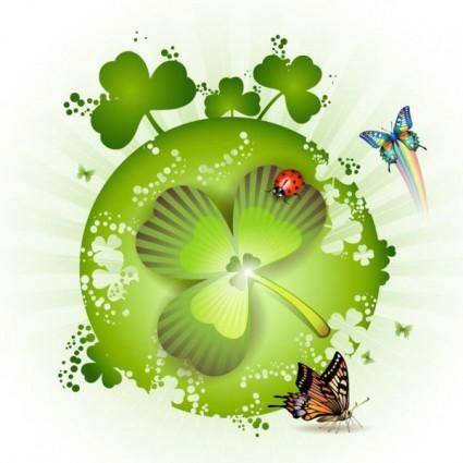 free vector Clover beautiful background 04 vector