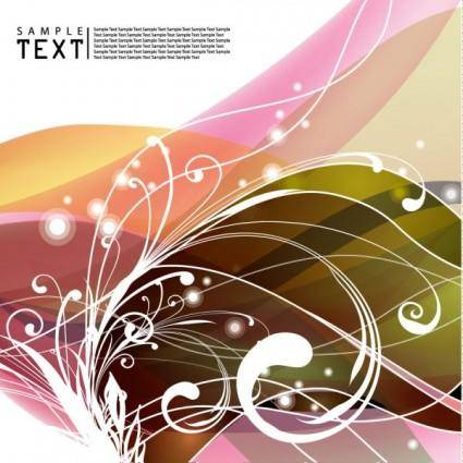 free vector Particularly unusual dynamic flow line background 02 vector
