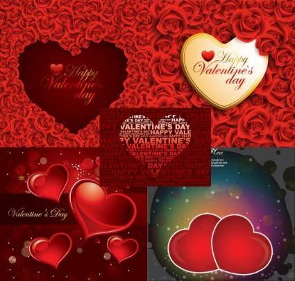 free vector Romantic roses and heartshaped background vector