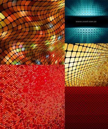 Dynamic mosaic background vector