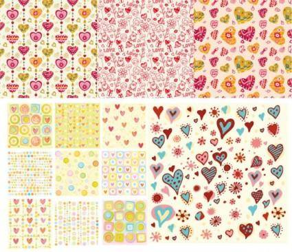 Heart background vector cute pursuit