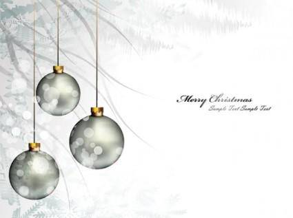 Christmas background ball beautiful 01 vector