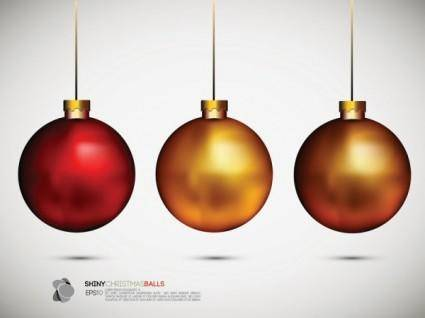free vector Beautiful christmas ball background 02 vector