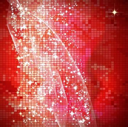 free vector Star bright red background vector