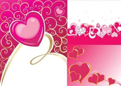 Valentine day heartshaped vector background