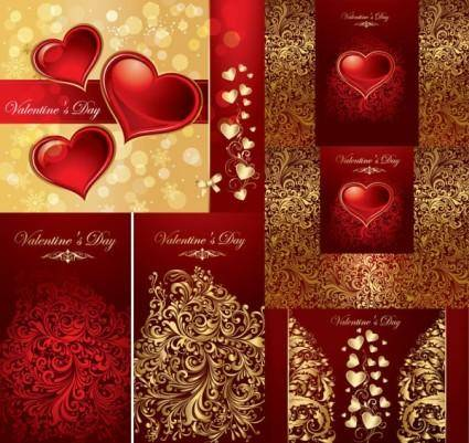 free vector Love the background pattern vector