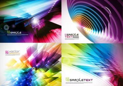 Brilliant color dynamic background vector