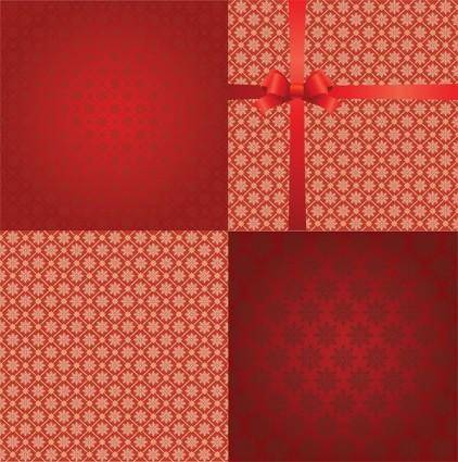 free vector Practical snowflake background vector