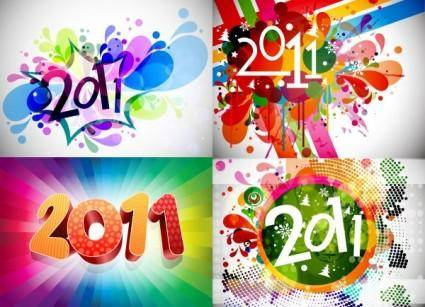 2011 bright colorful background pattern vector
