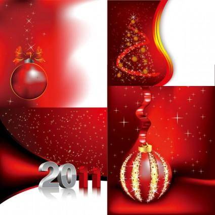 Red holiday background vector